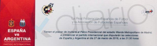 Larrea intenta robar votos a Rubiales a cambio de entradas para el España-Argentina