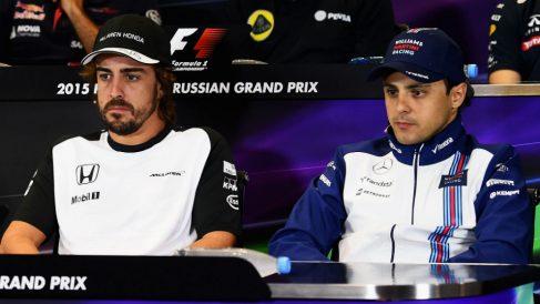 Felipe Massa ha afirmado que Fernando Alonso correrá este año con Toyota en resistencia porque la idea de no poder ganar en Fórmula 1 de la mano de McLaren le deprime. (Getty)