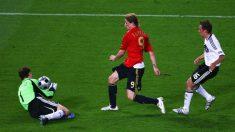 Fernando Torres dio la victoria a España frente a Alemania en 2008. (Getty)