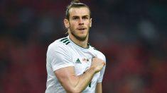 Gareth Bale celebra uno de los goles a China. (AFP)