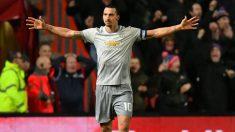 Zlatan Ibrahimovic, durante un partido con el Manchester United. (Getty)