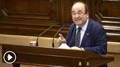 Miquel Iceta en el Parlament. (Foto: EFE)