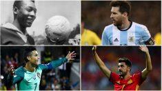 Los 10 máximos goleadores con sus selecciones (Getty)