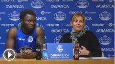 Sulley Muntari en sala de prensa. (RCDeportivo)