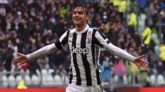 Paulo Dybala celebra un gol con la Juventus. (Getty)