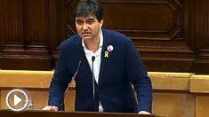 Sergi Sabrià, portavoz de ERC, durante la investidura de Jordi Turull.