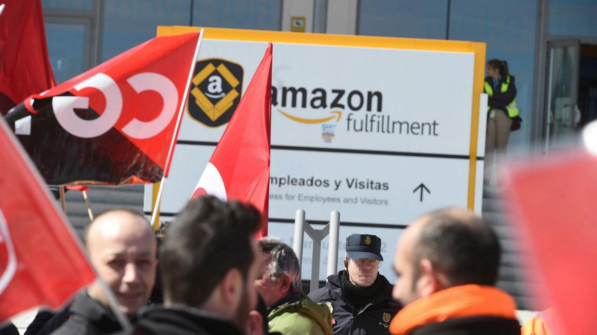 Huelga en Amazon (Foto:Efe)