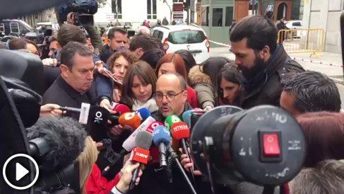 Carles Campuzano (PDeCAT) a las puertas del Supremo. (Foto y Vídeo: E. Falcón)