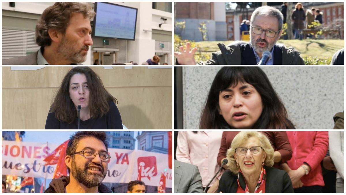 Concejales de Ahora Madrid cuyo cese se ha aprobado en el Pleno. (Fotos: Madrid)