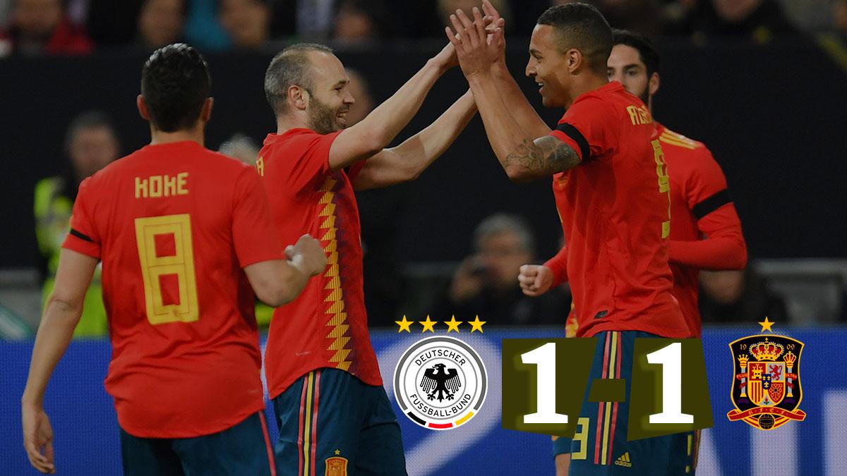 España salió viva de su visita en Alemania.