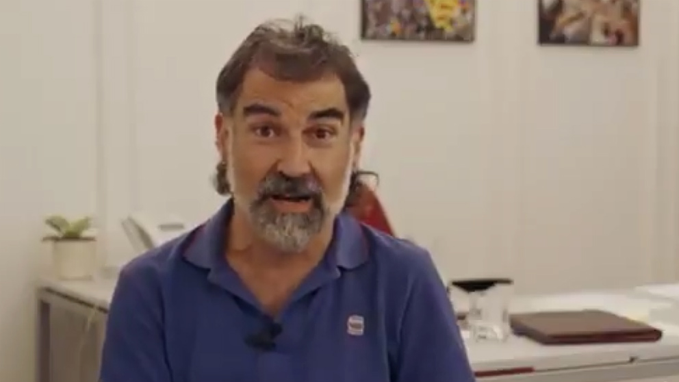 El golpista Jordi Cuixart, presidente de Òmnium Cultural.