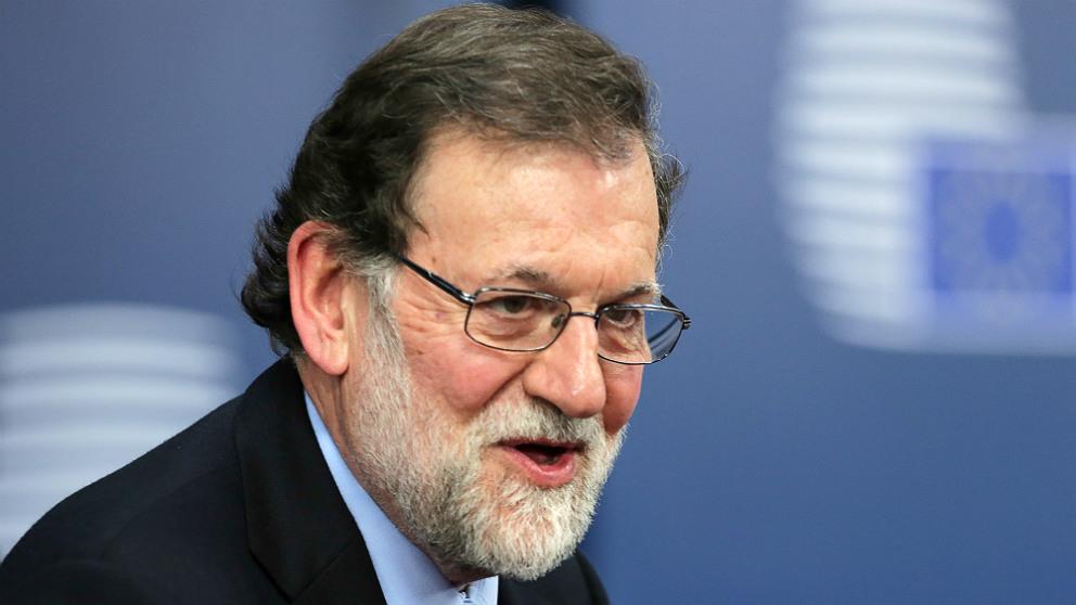 El presidente del Gobierno, Mariano Rajoy, en Bruselas. (AFP) | Moción de censura Rajoy
