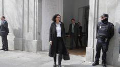 Marta Rovira a la salida del Tribunal Supremo.