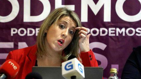 Carmen Santos, secretaria general de Podemos Galicia (Foto: EFE)