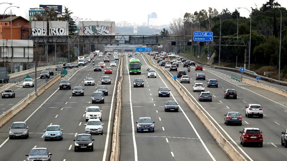 Tramo de la salida de Madrid por la  A-6 (Foto: Efe).