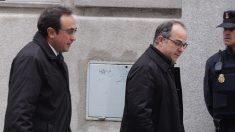 Jordi Turull y Josep Rull entrando al Tribunal Supremo. (Foto: Francisco Toledo)