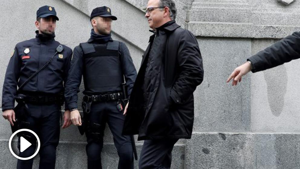 El ex conseller Jordi Turull a la salida del Supremo.