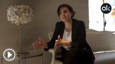 Un momento de la entrevista con Adriana Domínguez, directora general de Adolfo Domínguez