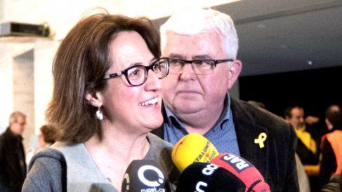 Elisenda Paluzie, presidenta de la ANC con Agustí Alcoberro, vicepresidente de la ANC.