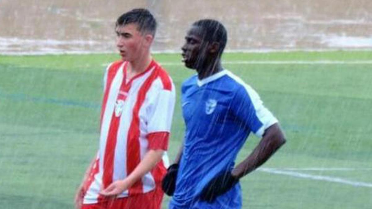 El joven Toure, durante un partido.