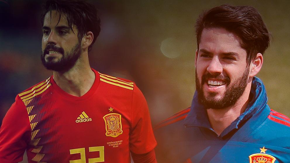 Isco ha recuperado la sonrisa con la selección española.