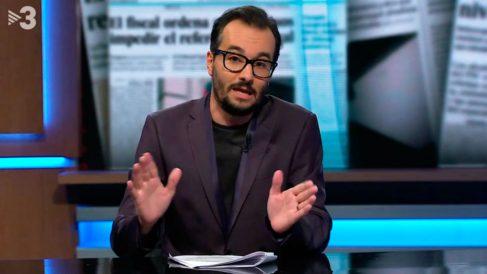 El presentador de TV3 Jair Domínguez.