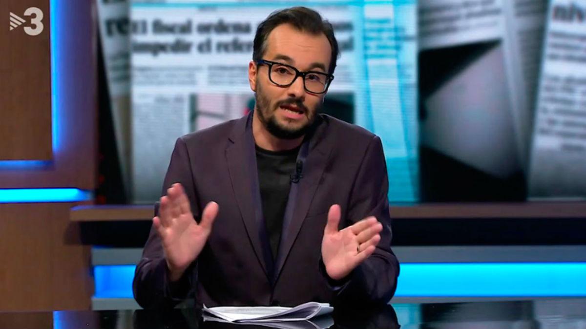 El presentador de TV3, Jair Domínguez.