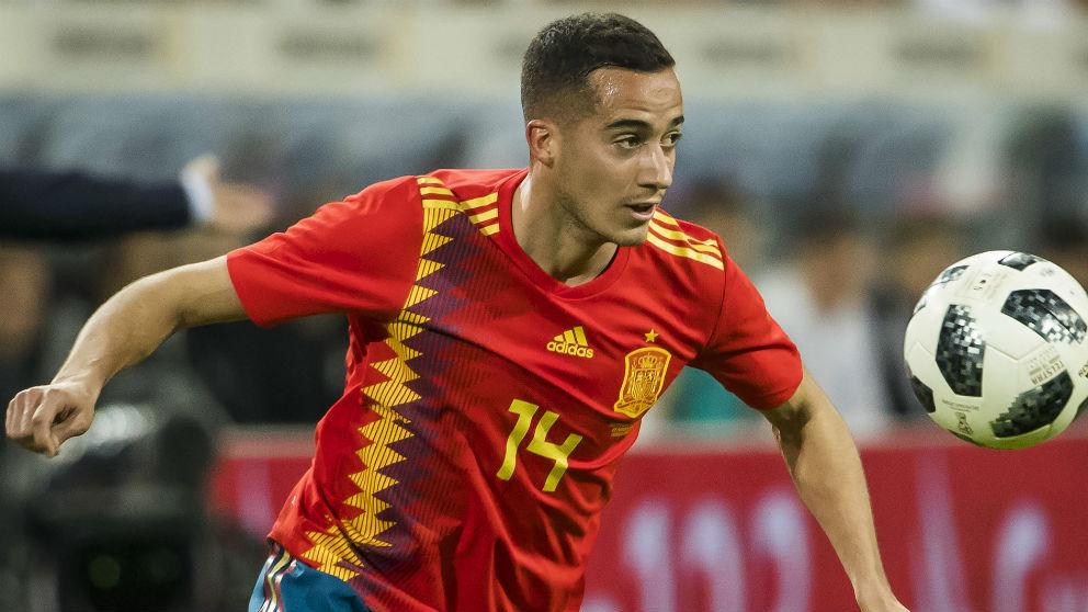 Lucas Vázquez durante el partido contra Alemania. (AFP)