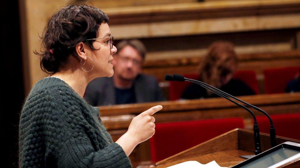 Natàlia Sànchez, diputada de la CUP. (Foto: EFE)