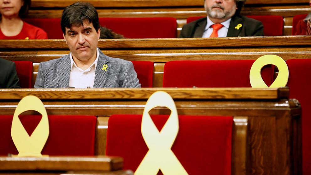 Sergi Sabrià, portavoz de ERC en el Parlament. (Foto: EFE)