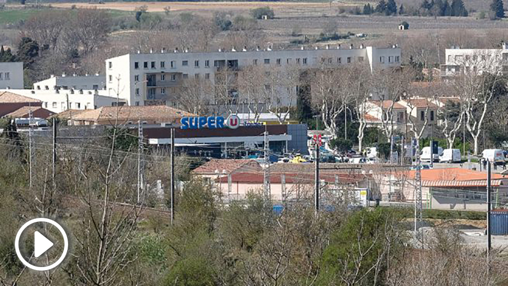 Supermercado de Trebès atacado por el yihadista.