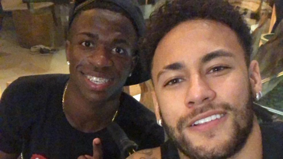 Vinicius y Neymar estuvieron juntos en Brasil este viernes.