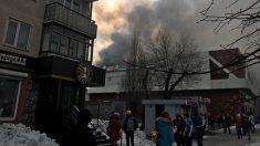 Incendio en un centro comercial en Siberia.