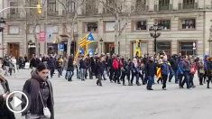 Manifestación en Barcelona, este domingo.