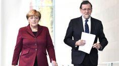 Merkel y Rajoy en una imagen de 2017 (Foto: AFP).
