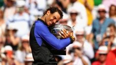 Rafa Nadal, tras ganas su décimo Roland Garros (Getty).