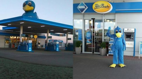 Imágenes de la gasolinera donde fue detenido el ex presidente. (Fotos: FB)