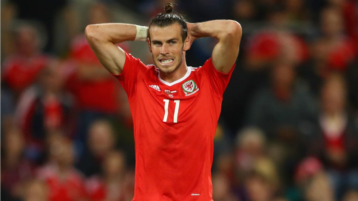 Bale, durante un partido con Gales. (Getty)
