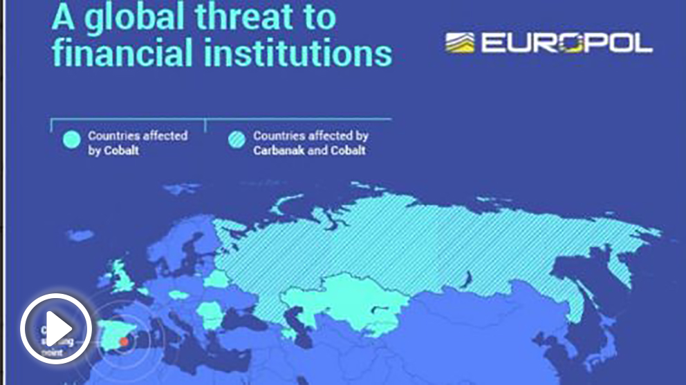 Países afectados en los ataques Carbanak y Cobalt.