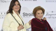 Carmen Martínez-Bordiú con su madre, Carmen Franco.