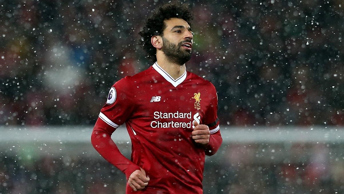 Salah, durante un partido con el Liverpool de esta temporada. (Getty Images)