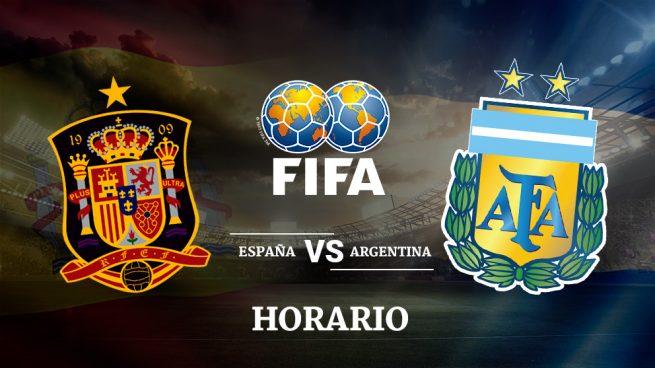 Espa a argentina horario y d nde ver el amistoso de Horario de partidos de hoy