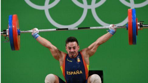 Josué Brachi durante su ejercicio. (AFP)