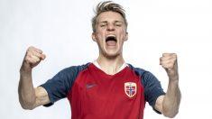 Martin Odegaard, con la selección de Noruega. (Getty)