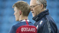Odegaard durante un partido (Getty)