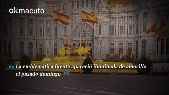 ¿Por qué Carmena ha iluminado Cibeles de amarillo?