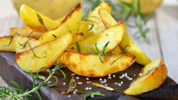 patatas fritas al microondas