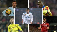 Las cuatro opciones del Real Madrid para ser el recambio de Casemiro. (Fotos: Getty Images/AFP)