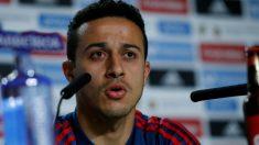 Thiago analizó el partido ante Argentina. (EFE)
