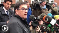 Los abogados de Carles Puigdemont han hecho declaraciones a los medios delante de la prisión Neumünster